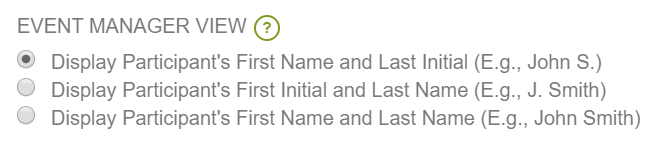 New Naming Format for Participants