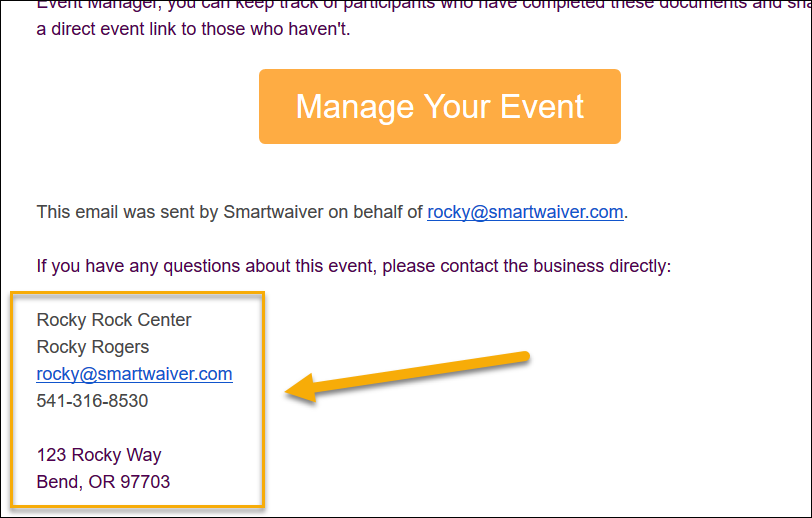 Manage Your Event